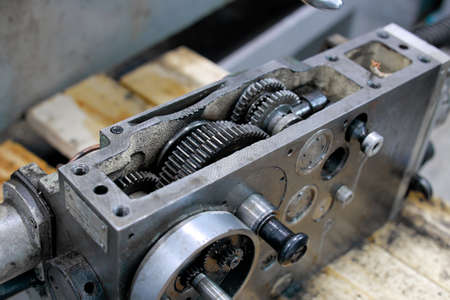 These are metal lathe parts. It is a steel mechanism with gears.