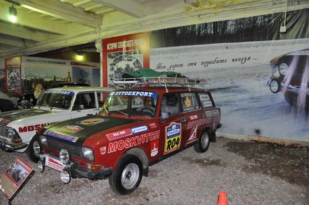 museum rally: sports Soviet car AZLK Moskvich 1600 SL RALLYE