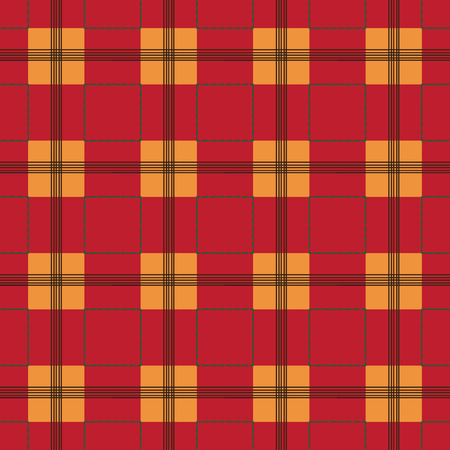 scot: Textured tartan, plaid, vector pattern that can be seamlessly tiled. Illustration