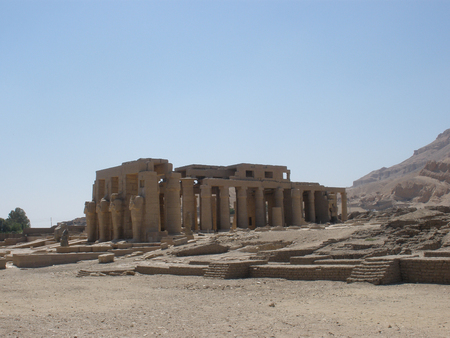 mortuary: The Ramesseum is the memorial temple (or mortuary temple) of Pharaoh Ramesses II