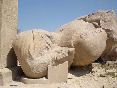 thebes: The Ramesseum is the memorial temple (or mortuary temple) of Pharaoh Ramesses II