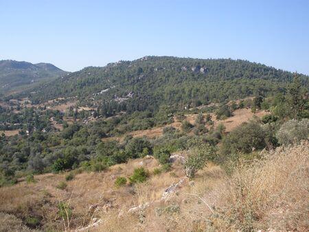 tall chimney: Turkey. mountain valley in the Taurus mountains