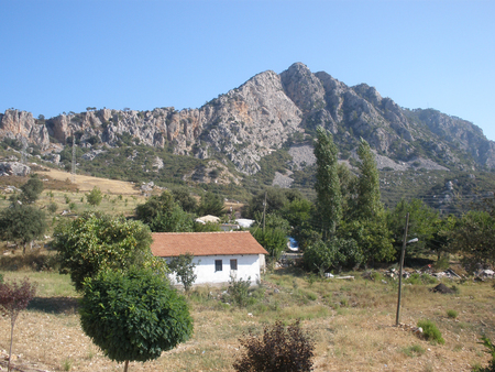 non la: cottage in the Taurus mountains. summer. Turkey Stock Photo