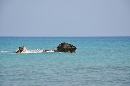 aphrodite: sea view from the beach of Aphrodite in Cyprus