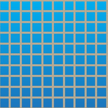 replaced: the pattern of the grid of ropes. the background can be replaced Illustration