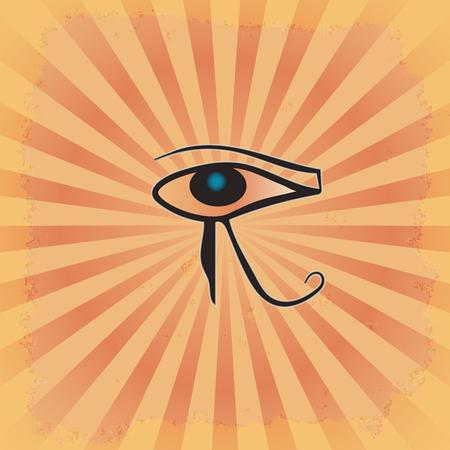 ojo de horus: el ojo de la AR en el fondo del grunge radiante