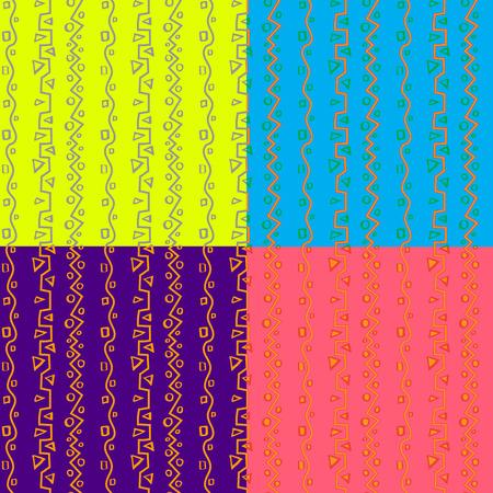 desing: seampless pattern africa set 4 color desing