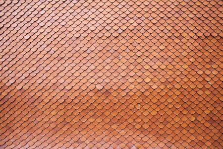 Roof tiles of classic Buddhist photo