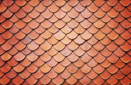 Roof tiles of classic Buddhist Stock Photo - 7878452