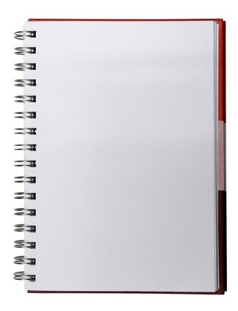 白地に赤のグラデーション メモ帳