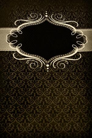 レストランのメニュー テキストのための場所とヴィンテージ デザイン 写真素材 - 8779527