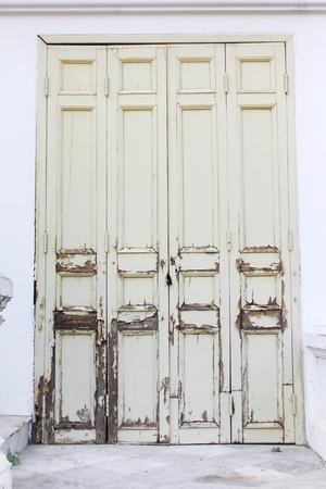 Grunge vintage door with lock