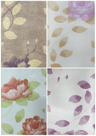 Set paper texture,with flower pattern  Stock Photo