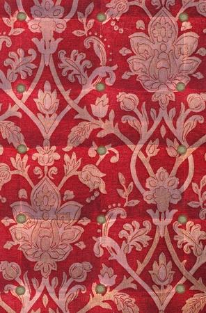 velvet texture: Vintage red velvet cushion.