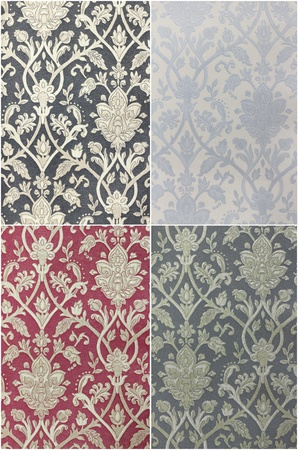 drapery: Set Fabric texture,Vintage Design Stock Photo
