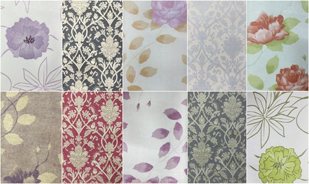 Set Fabric  and paper texture Stock Photo