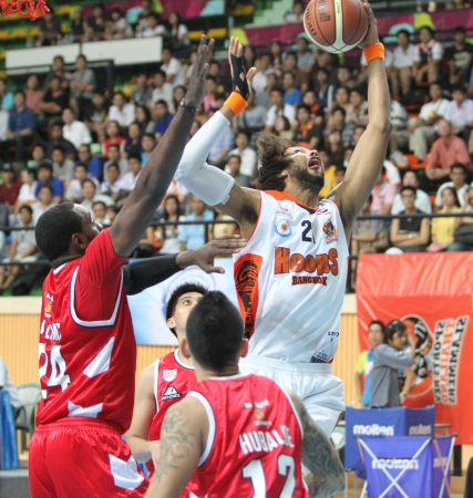 find similar images:   Save to a lightbox   9660;   find similar images   share   9660; BANGKOK - MAY 28 Christien Charles  21 rebound ball compete with Justin Williams  27 in an ASEAN Basketball League  ABL  playoffs game3 at Nimibut Stadium on May 28, 2013 in Bangkok,Thaila