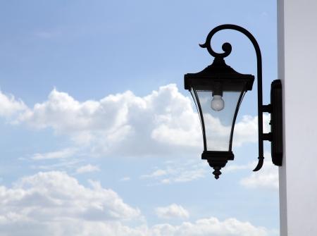 backstreet:  old rusty lantern