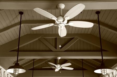 Ceiling Fan in Sepia Stock Photo