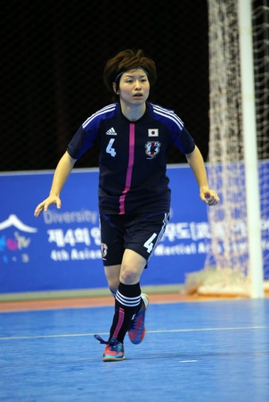 Incheon - July 5 SHIBAHARA Kana of Japan participates in an Asian Indoor and Martial Arts Games 2013 at Songdo Global University on July 5, 2013 in Incheon, South Korea  Stock Photo - 20877615