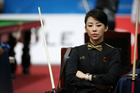 Incheon - July 3 PAN Xiaoting billiard player of China participates in an 4th Asian Indoor and Martial Arts Games 2013 at Songdo Convensiaon on July 3, 2013 in Incheon, South Korea