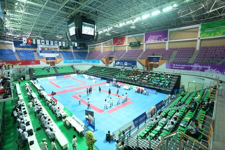 incheon: Incheon - June 29 Ansan Sangnoksu Gymnasium during the Indoor Kabaddi 4th Asian Indoor and Martial Arts Games 2013 on June 29 2013 in Incheon, South Korea