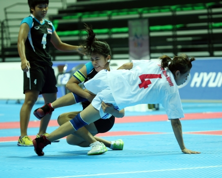 popularized: Incheon - June 29 Alisa Limsamran from Thailand participates in an Asian Indoor and Martial Arts Games 2013 at Ansan Sangnoksu Gymnasium on June 29, 2013 in Incheon, South Korea