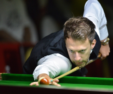 Bangkok, Thailand - SEP 3 Judd Trump of England participates in a Sangsom Six-red World Championship 2013 at Montien Riverside Hotel on September 3, 2013 in Bangkok, Thailand