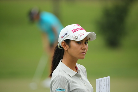 Chonburi, Thailand - FEB 20 Ai Miyazato of Japan in action during Honda LPGA Thailand 2014 at Siam Country Club Pattaya Old Course on February 20, 2014 in Chonburi, Thailand