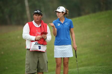jennifer: Chonburi, Thailand - FEB 20 Jennifer Johnson of USA in action during Honda LPGA Thailand 2014 at Siam Country Club Pattaya Old Course on February 20, 2014 in Chonburi, Thailand  Editorial