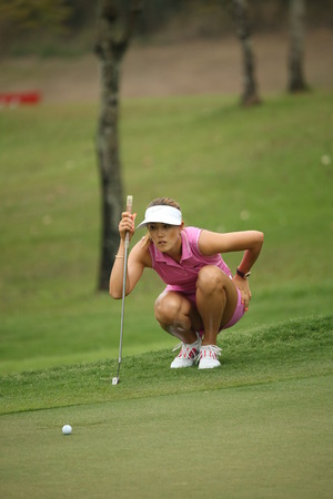 Chonburi, Thailand - FEB 20 Michelle Wie of USA in action during Honda LPGA Thailand 2014 at Siam Country Club Pattaya Old Course on February 20, 2014 in Chonburi, Thailand