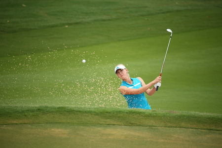 Chonburi, Thailand - FEB 21 Jessica Korda of USA in action during Honda LPGA Thailand 2014 at Siam Country Club Pattaya Old Course on February 21, 2014 in Chonburi,   Thailand