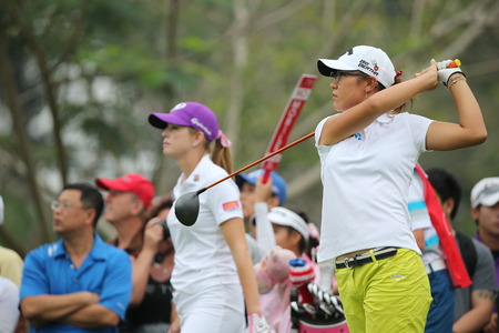 Chonburi, Thailand - FEB 21 Lydia Ko of New Zealand in action during Honda LPGA Thailand 2014 at Siam Country Club Pattaya Old Course on February 21, 2014 in Chonburi,   Thailand