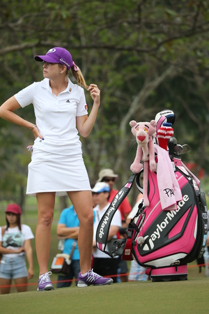 Chonburi, Thailand - FEB 21 Paula Creamer of USA in action during Honda LPGA Thailand 2014 at Siam Country Club Pattaya Old Course on February 21, 2014 in Chonburi,   Thailand