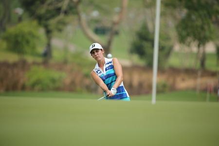 jennifer: Chonburi, Thailand - FEB 22 Jennifer Johnson of USA in action during Honda LPGA Thailand 2014 at Siam Country Club Pattaya Old Course on February 22, 2014 in Chonburi,   Thailand  Editorial