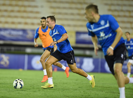Bangkok, Thailand - July26 danny drinkwater of Leicester City in action during an evening session at Supachalasai Stadium on July 26, 2014 in Bangkok, Thailand