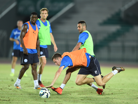 Bangkok, Thailand - July25 Riyad Marez of Leicester City in action during an evening session at Thai Army Sports Stadium on July 25, 2014 in Bangkok, Thailand