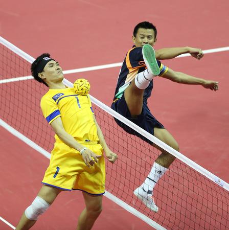 incheon: INCHEON - SEP 24:Anuwat CHAICHANA of Thailand participates in 2014 Incheon Asian Games at Bucheon Gymnasium on September 24, 2014 in Incheon, South Korea.