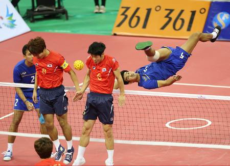 incheon: INCHEON - SEP 23:Pornchai KAOKAEW of Thailand participates in 2014 Incheon Asian Games at Bucheon Gymnasium on September 23, 2014 in Incheon, South Korea.