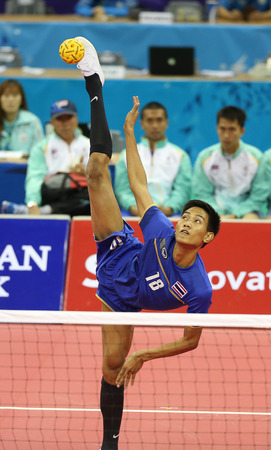 INCHEON - SEP 23:Sittipong KHAMCHAN of Thailand participates in 2014 Incheon Asian Games at Bucheon Gymnasium on September 23, 2014 in Incheon, South Korea.
