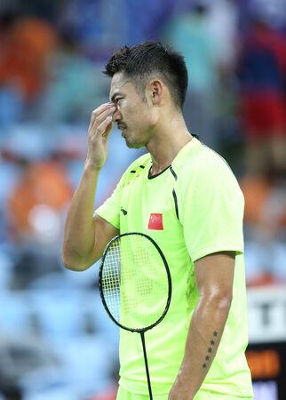 incheon: INCHEON - SEP 25:LIN Dan of China participates in 2014 Incheon Asian Games at Gyeyang Gymnasium on September 25, 2014 in Incheon, South Korea.