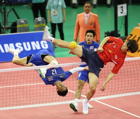 仁川 - 9 月 23:Supachai タイの MANEENAT は、2014 年 9 月 23 日、韓国の仁川での富川体育館 2014年仁川アジア大会に参加します。