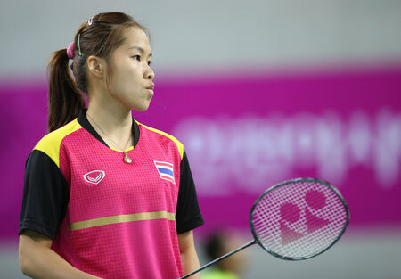 incheon: INCHEON - SEP 26:Ratchanok INTANON of Thailand in action during the 2014 Incheon Asian Games at Gyeyang Gymnasium on September 26, 2014 in Incheon, South Korea.