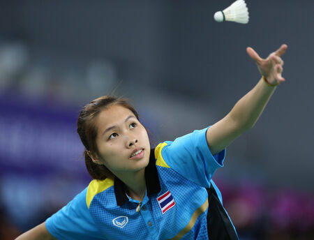 INCHEON - SEP 25:Ratchanok INTANON  of Thailand participates in 2014 Incheon Asian Games at Gyeyang Gymnasium on September 25, 2014 in Incheon, South Korea.