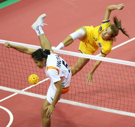 incheon: INCHEON - SEP 24:Fueangfa PRAPHATSARANG of Thailand participates in 2014 Incheon Asian Games at Bucheon Gymnasium on September 24, 2014 in Incheon, South Korea.