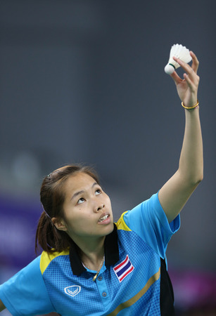 incheon: INCHEON - SEP 25:Ratchanok INTANON  of Thailand participates in 2014 Incheon Asian Games at Gyeyang Gymnasium on September 25, 2014 in Incheon, South Korea.