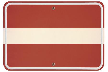 metal sign: Vintage Latvia metal sign Stock Photo