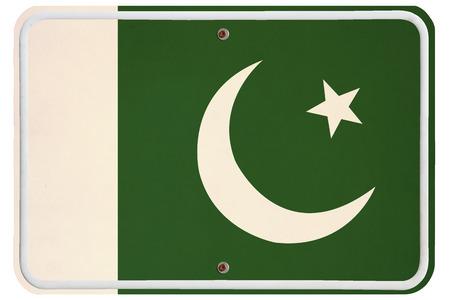 metal sign: Vintage Pakistan metal sign