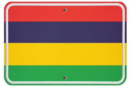 metal sign: Vintage Republic of Mauritius metal sign