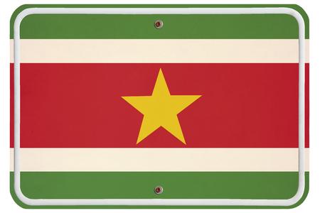 suriname: Vintage Suriname metalen bord